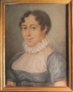 Portrait de Véronique Pichard propriétaire du Châtelet en 1813 arrière arrière arrière arrière grand mère du propriétaire actuel
